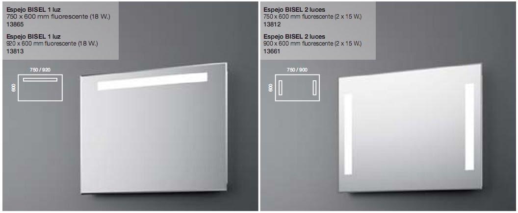 Espejos con luz fluorescente reformas guaita for Espejos para banos con luz incorporada