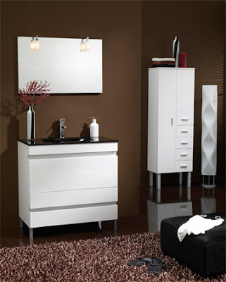Serie carla de muebles de ba o con tirador perfil de aluminio reformas guaita - Muebles de bano de aluminio ...