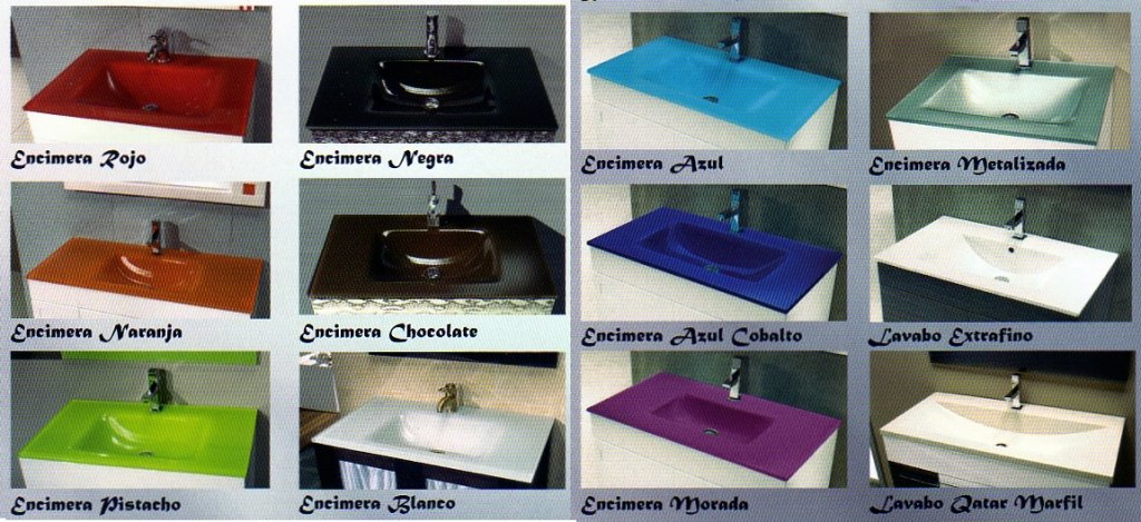 Lavabos Para Baños Cristal:Color mueble de baño con azulejos en beige