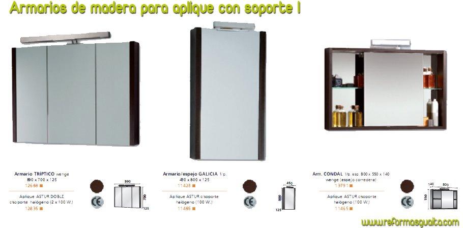 Botiquin Para Baño Wengue:armarios+de+madera+para+aplique+con+soporte+1jpg