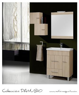 Colecci n danubio con fondo reducido a 39 cms en tono - Muebles de bano de fondo reducido ...