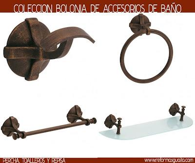 Serie cobra de accesorios r sticos reformas guaita for Accesorios bano rusticos