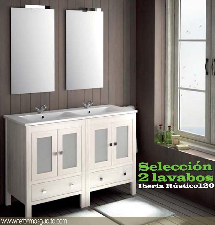 Muebles Para Baño S A De C V Gersa:mueble+baño+2+lavabos+iberia+120+blanco+rustico+jpg