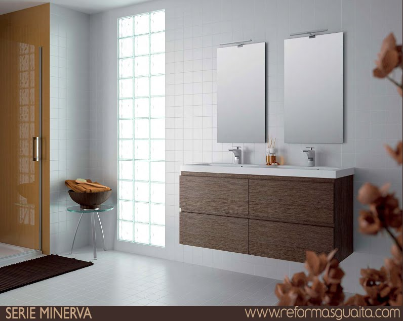 Muebles de ba o doble lavabo for Banos con dos lavabos
