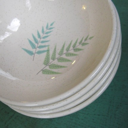 innocent donuts: Vintage Franciscan china is sublime . . .