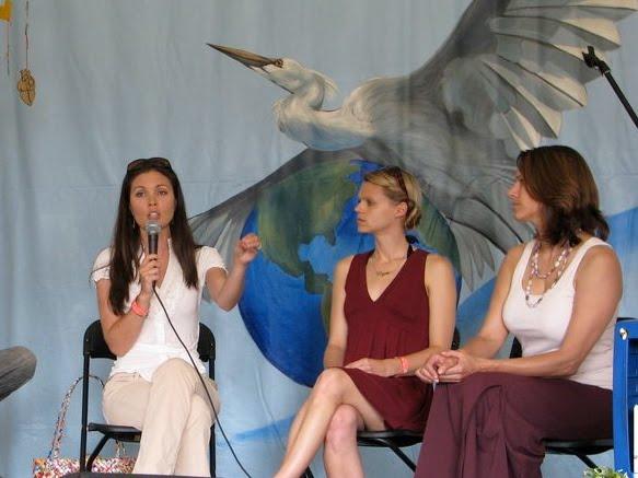 Speaking at WorldFest 5/16/10, Rachel speaking
