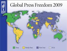Freedom House: Mappa mondiale della libertà di stampa 2009