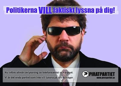 Poster från Piratpartiet