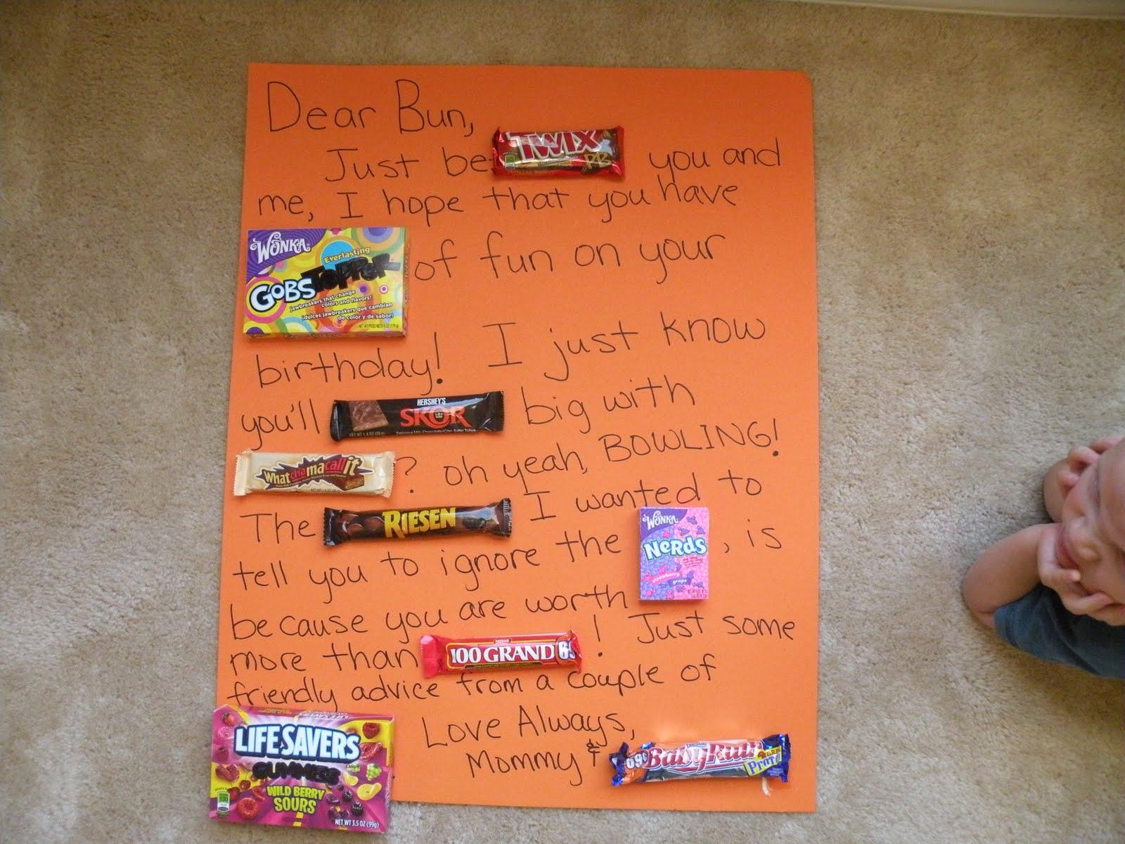 Happy Birthday Candy Bar Sayings