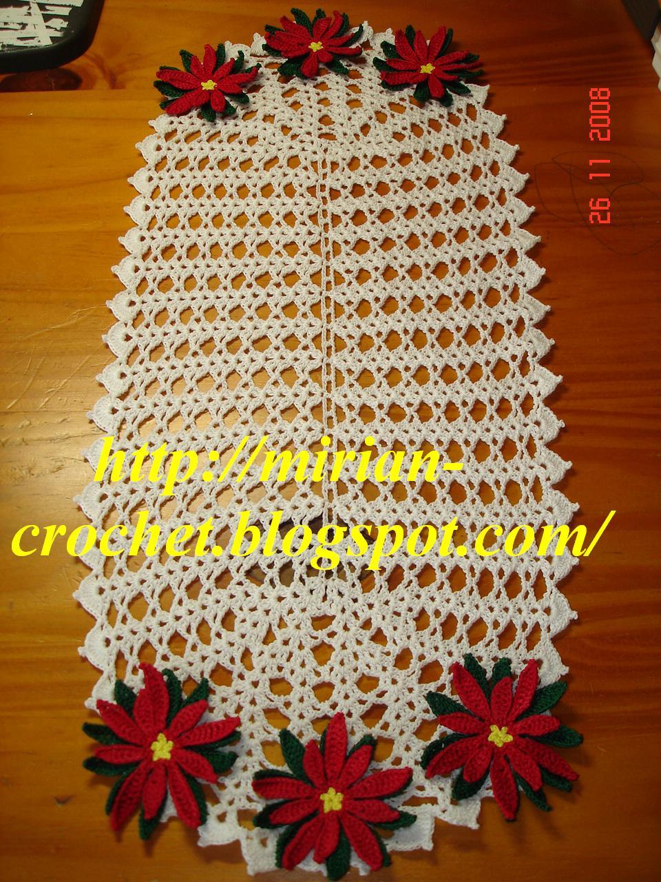 toalhinha e caminho de mesa mirian-croche