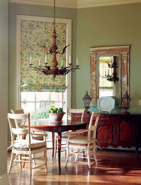 from McMansion to French Country Cottage, dining room designed by interior designer Martha Sweezey
