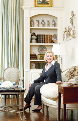 from McMansion to French Country Cottage, living room designed by interior designer Martha Sweezey