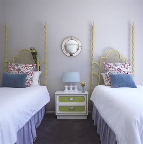Out of curiosity two twin beds in a guest bedroom for Guest room with twin beds