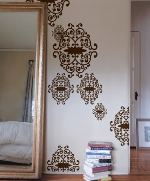 iron vines wall decal from Blik