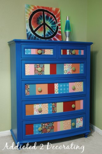 Before after caroline s chest of drawers - Decorating a chest of drawers ...