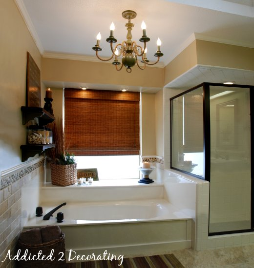 master bathroom makeover on a budget