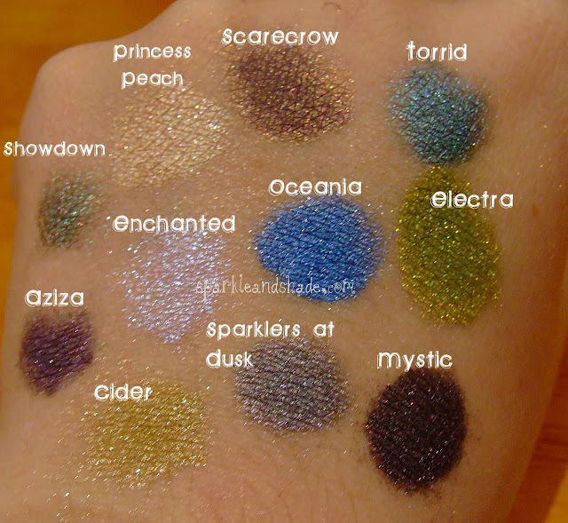 darling girl cosmetics eyeshadow swatches