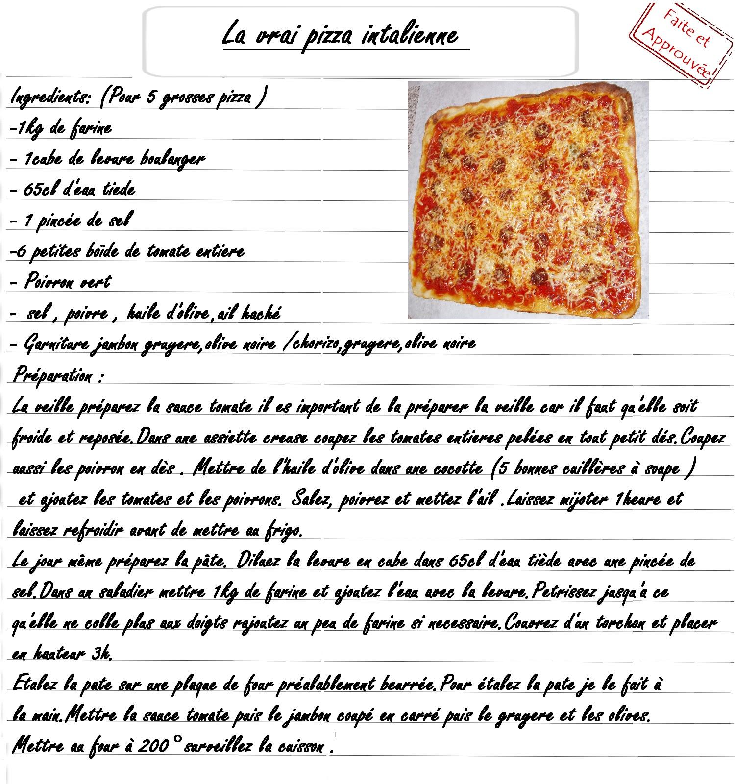 Ma Cuisine Mes Origines Pizza Italienne Fait Maison