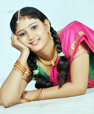 Amruthavalli Cute Stills in Half Saree Photoshoot images