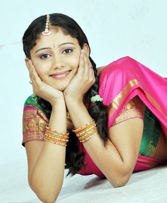 Amruthavalli Cute Stills in Half Saree unseen pics