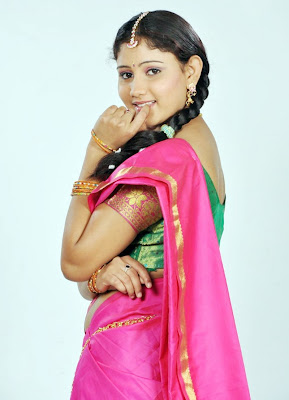 Amruthavalli Cute Stills in Half Saree wallpapers