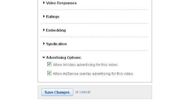 YouTube invideo advertising setting
