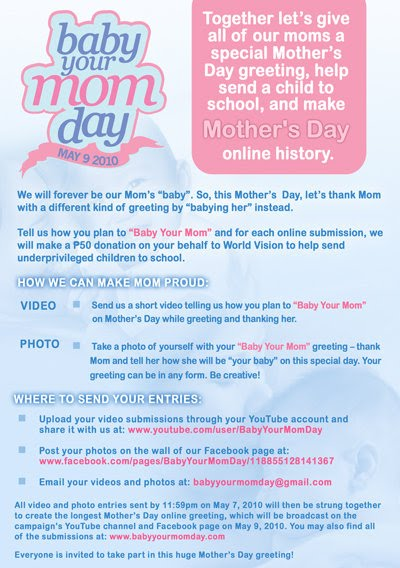 Make Mothers' Day Extra Special for Your Mom and Be Part of Online History