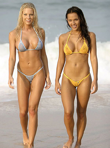 Whether it's a sheer micro bikini or a sheer thong bikini, ...