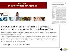 EVADUR: eventos adversos ligados a la asistencia en los servicios de urgencias de hospitales españ