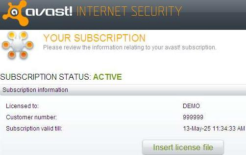avast! Internet Security Screenshot