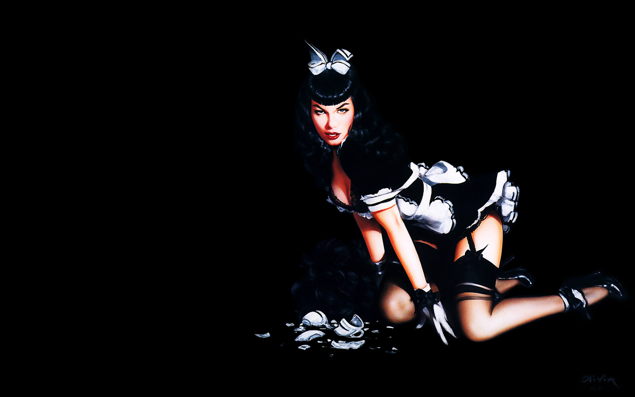 2006 The Notorious Bettie Page wallpaper. Time to start the show