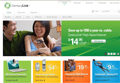 CenturyLink - Login at www.centurylink.com my account Section