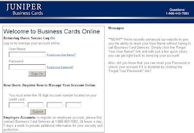 Juniper Business Cards Login at Www.Juniperbizcard.com