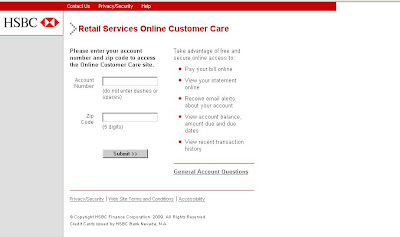 www.Hrsaccount.com - HSBC Retail Services Online Customer Care