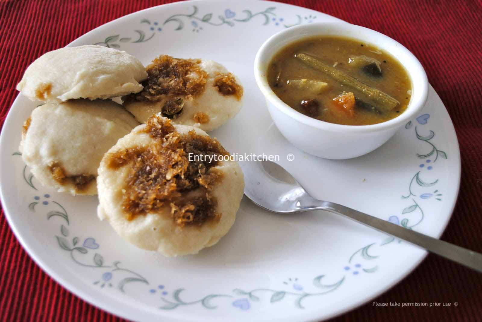An entry to odia kitchen 2011 in odisa idli is served with ghuguni dalma or hot milk with sugar here goes the recipe of a favourite dish from my kitchen thecheapjerseys Images