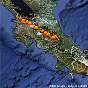 Mapa de los Volcanes activos