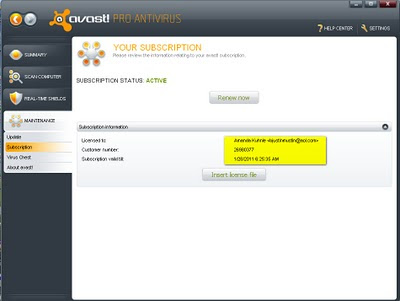 Avast! Antivirus Pro 5