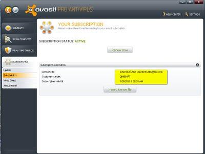 Avast! Antivirus Pro 5