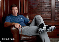 Nick Faldo wearing Adidas adiPURE golf shoes