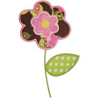 Embroidery: Couching On Flower Applique {pattern & tutorial