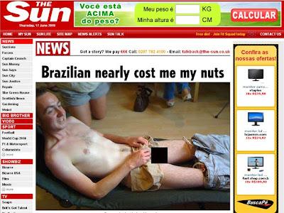 Inglês faz depilação de virilha à brasileira e quase perde testículo