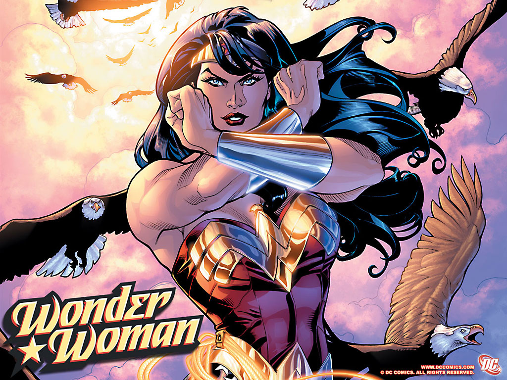 Wonder Woman wallpaper by Terry Dodson [above]