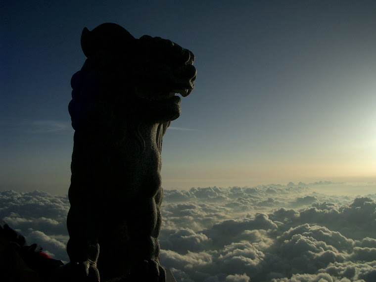 Guardian atop Mt. Fuji