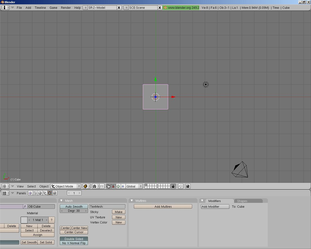 Simple blender tutorials beginners modelling tutorial part 1 open blender to the default scene baditri Image collections