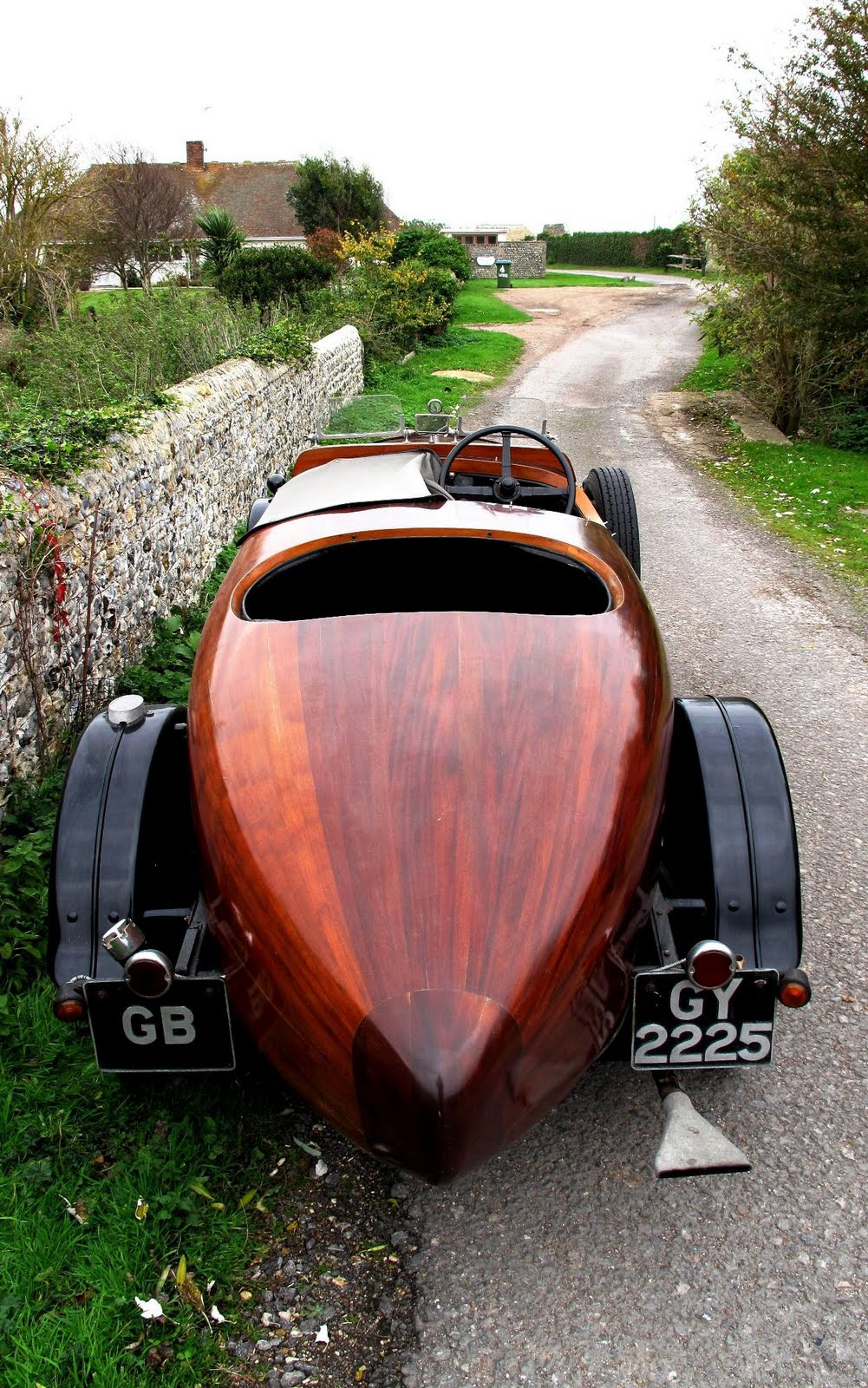 eclectic ephemera historic wooden car floated at auction. Black Bedroom Furniture Sets. Home Design Ideas