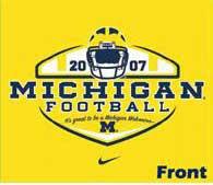 College Football Blog Michigan Student T Shirt Design 2007