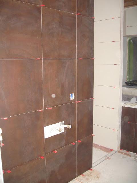 Verbouwing oterleek badkamer tegelen - Badkamer betegelde vloer ...