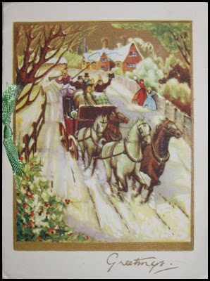 Christmas card from Scotland 1945