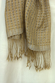 handwoven, organic silk scarf