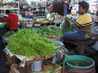 fresh market in Southeast Asia
